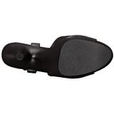 Fekete Műbőr 18 cm ADORE-709 Platform Magassarkú Cipők