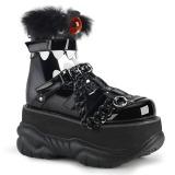 Fekete Műbőr 7,5 cm NEPTUNE-150 Platform Gótikus Cipők Férfi