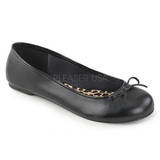 Fekete Műbőr ANNA-01 nagy méretek balerínky cipők