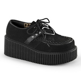 Fekete Műbőr CREEPER-206 Platform Creepers Cipők Női