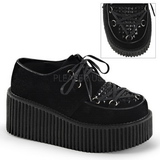 Fekete Műbőr CREEPER-216 Platform Creepers Cipők Női