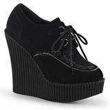 Fekete Műbőr CREEPER-302 creepers éktalpú cipők