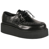 Fekete Műbőr V-CREEPER-502 Platform Creepers Cipők Férfi