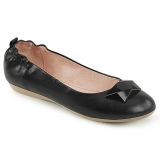 Fekete OLIVE-08 Balerina lapos sarkú női cipők