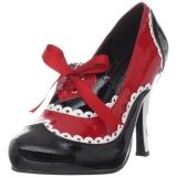 Fekete Piros 10,5 cm QUEEN-03 női cipők a magassarkű