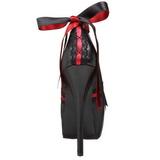 Fekete Piros 14,5 cm TEEZE-13 női cipők a magassarkű