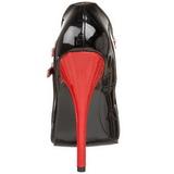 Fekete Piros 15 cm DOMINA-442 női cipők a magassarkű