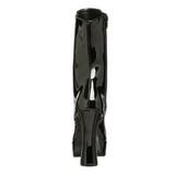 Fekete Platform Bokacsizma női 13 cm Pleaser ELECTRA-1020