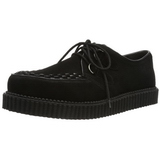 Fekete Szarvasbőr 2,5 cm CREEPER-602S Creepers Cipők Férfi