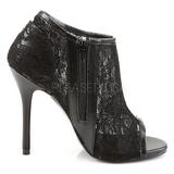 Fekete Szövet 13 cm AMUSE-56 Körömcipők magas cipők