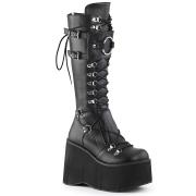 Fekete Vegan 11,5 cm Demonia KERA-200 Gótikus Platform Csizma