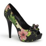 Fekete Virág 13 cm LOLITA-11 női cipők a magassarkű