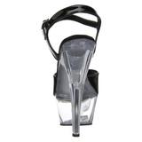 Fekete Átlátszó 15 cm Pleaser KISS-209 Magassarkú Platform