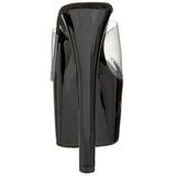 Fekete Átlátszó 18 cm PLEASER SKY-301 Platform Papucs