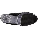 Fekete Átlátszó 20 cm FLAMINGO-1021 női platform bokacsizma
