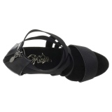 Fekete rugalmas szalag 15 cm DELIGHT-669 pleaser cipők magassarkú