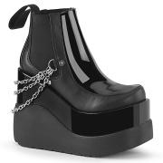 Fekete vegán boots 13 cm VOID-50 demonia éksarkú csizma