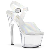 Hologram 18 cm SKY-308N JELLY-LIKE stretch platform szandal magassarkú