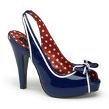 Kék 11,5 cm retro vintage BETTIE-05 női cipők magassarkű