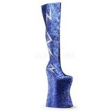 Kék Csillámos 34 cm VIVACIOUS-3016 Combcsizma Drag Queen