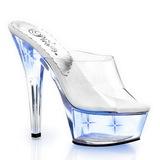 Kék LED Izzo 15,5 cm KISS-201LT Plateau Papucs Női Cipők