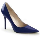 Kék Lakk 10 cm CLASSIQUE-20 Körömcipők Tűsarkú Magas Cipők