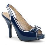 Kék Lakkbőr 11,5 cm PINUP-10 nagy méretek szandál női