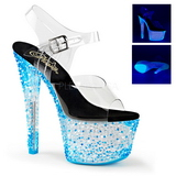 Kék Neon 18 cm Pleaser CRYSTALIZE-308PS Platform Magassarkú