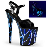Kék Neon 20 cm Pleaser FLAMINGO-809NLB Platform Magassarkú