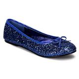 Kék STAR-16G Csillámos Balerínky Cipők