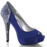 Kék Strasszköves 13 cm LOLITA-08 Körömcipők magas cipők