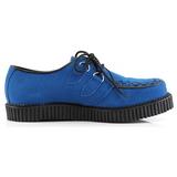 Kék Szarvasbőr 2,5 cm CREEPER-602S Creepers Cipők Férfi