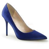 Kék Szatén 10 cm CLASSIQUE-20 Körömcipők Tűsarkú Magas Cipők