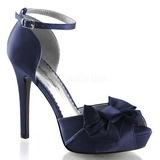 Kék Szatén 12 cm LUMINA-36 Körömcipők magas cipők