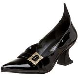 Lakk 6,5 cm SALEM-06 boszorkány cipő