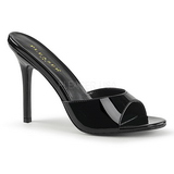 Lakkbőr 10 cm CLASSIQUE-01 alacsony sarkú női papucs