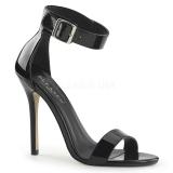 Lakkbőr 13 cm AMUSE-10 transzvesztita magassarkű cipő