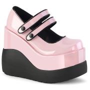 Lakkbőr 13 cm VOID-37 alternatív cipők platformos rózsaszín