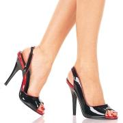 Lakkbőr slingback cipő 13 cm SEDUCE-117 pleaser magassarkú slingback