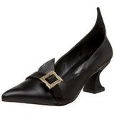 Matt 6,5 cm SALEM-06 boszorkány cipő