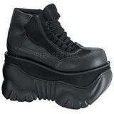 Műbőr 10 cm BOXER-01 Platform Gótikus Cipők Férfi