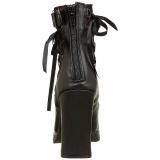 Műbőr 10 cm DEMONIA CRYPTO-51 női platform bokacsizma