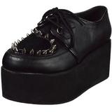 Műbőr 7 cm GRIP-02 gótikus cipők platform