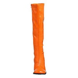 Narancs Lakk 8,5 cm GOGO-300 Női Csizma a Férfi