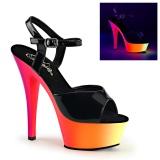Neon 15 cm Pleaser RAINBOW-209UV rúdtánc magassarkú cipő