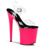 Neon 20 cm Pleaser FLAMINGO-808UV Magassarkú Platform