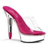 Papucs Női Cipő Platform 14 cm Pleaser ROUGE-601