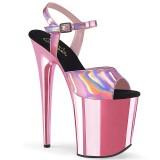 Pink 20 cm FLAMINGO-809HG platform pleaser magassarkú