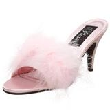 Pink 8 cm AMOUR-03 Prém Magassarkú Papucs