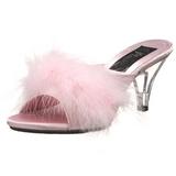 Pink 8 cm BELLE-301F Prém Magassarkú Papucs